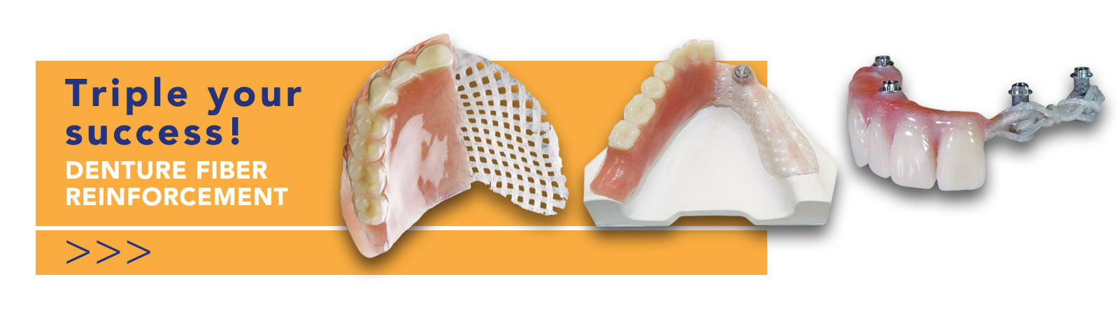 fiber reinforcement for dentures
